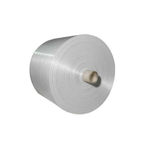 Plain White Polypropylene Woven Fabric Roll